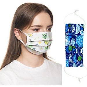 2 Layer Cotton Face Mask w/ Full Color Imprint & Adjuster